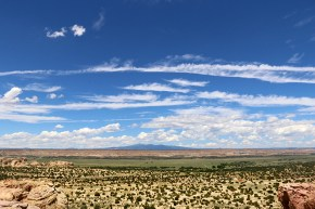 """View from the mesa, the Acoma Pueblo """"Sky City"""" is build on."""