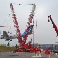 "FINAL DESTINATION FOR ""ZERO G"": The former plane for parabolic flights will now become a museum at Cologne Airport - a heavy crane lifted it to its new spot [Photo-report]"