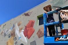 Cinta Vidal wirking in Long Beach.