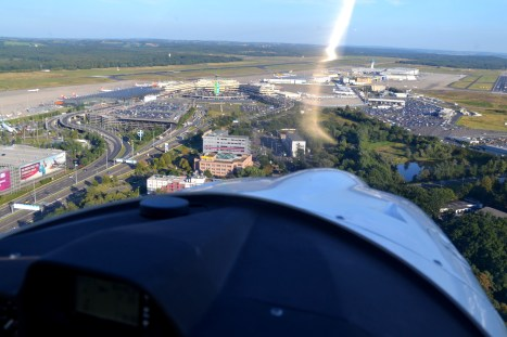 Approaching Cologne airport.