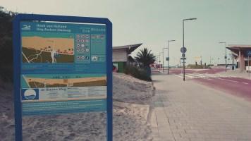 The road to the beach of Hoek van Holland.