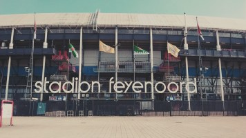 The famous soccer stadium of Feyenoord.