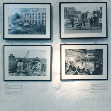 Photos by Eusbeius Wirdeier show the deconstruction of an old factory and the protests before...