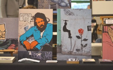 The late Bud Spencer photographed as a street art motif.