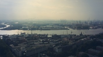 The famous Harbour of Hamburg.