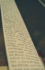 "Endless paper rolls with words: Florian Egermann's ""Ja und Amen."""