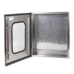 Stainless steel box transparent door
