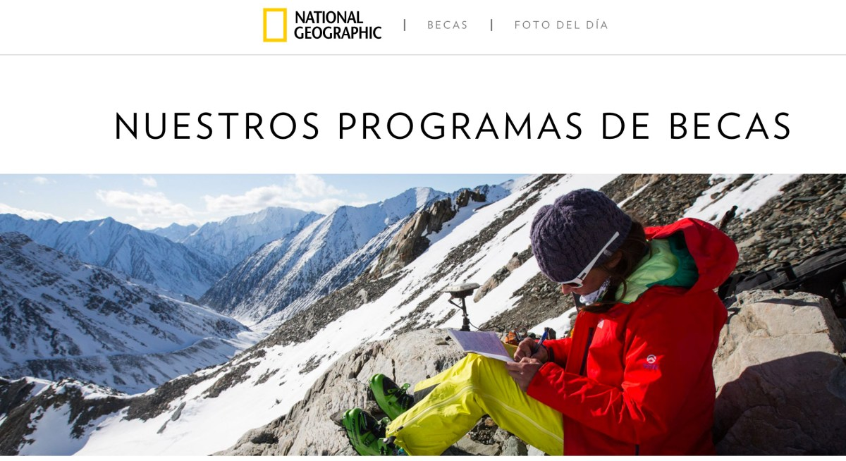 Becas National Geographic Society
