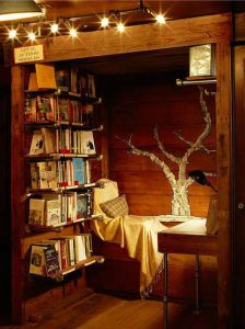 Fairy lights reading nook