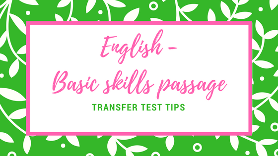AQE English Basic skills passage