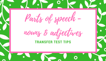 Parts of speech quiz - identify nouns, verbs, adjectives