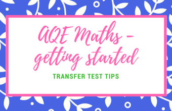 AQE Maths revision - getting started