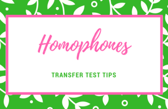 Transfer Test Tips AQE test english Homophones