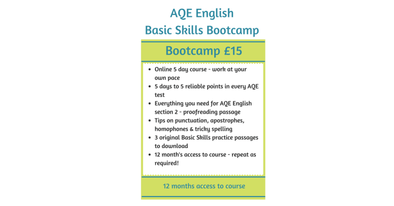 Basic Skills bootcamp offer Transfer Test Tips
