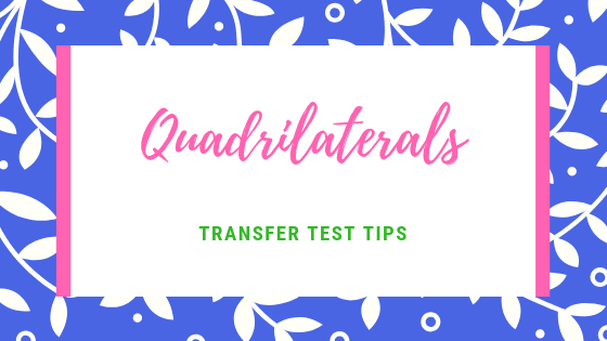 AQE test Transfer Test Tips maths Quadrilaterals