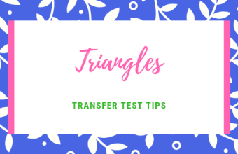Triangles Transfer test tips AQE test maths