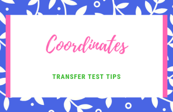 Coordinates transfer test tips aqe test maths