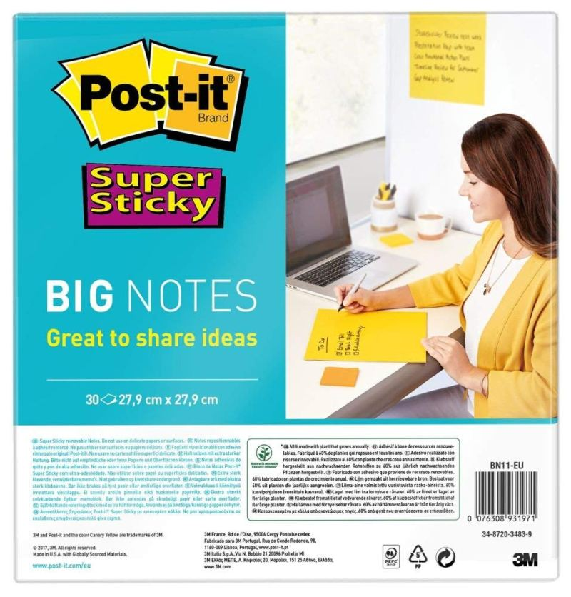 giant sticky notes transfer test revision