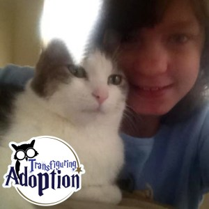 Jasmine-cat-selfie-foster-care-adoption-harry-potter