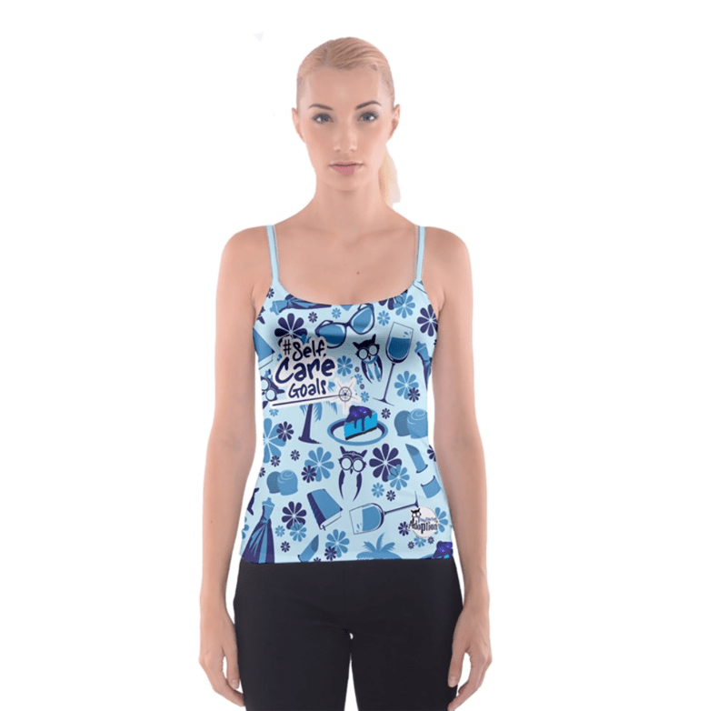 Self-Care Spaghetti Strap Top (Blue)