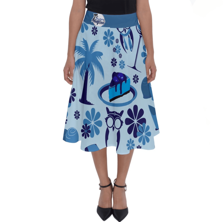 Self-Care Perfect Length Midi Skirt (Blue)