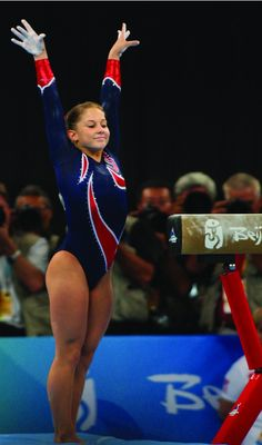 US Gymnast Shawn Johnson at Beijing Olympics