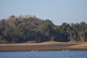 Canoeing Satpura National Park, India