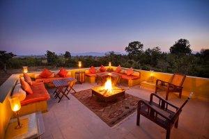 India, Satpura National Park Sunset Forsyth Lodge