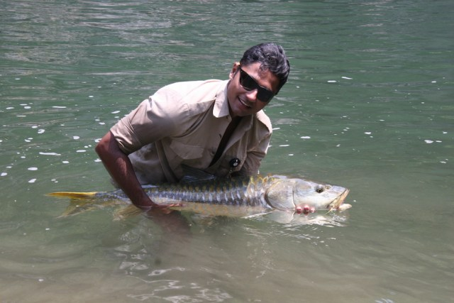 Misty Dhillon Mahseer fishing India