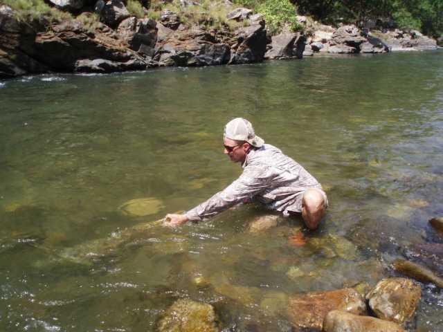 Jeff Currier Golden Mahseer fishing