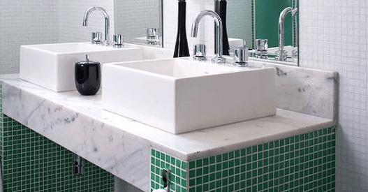 cuba-dupla Decoração para Banheiro