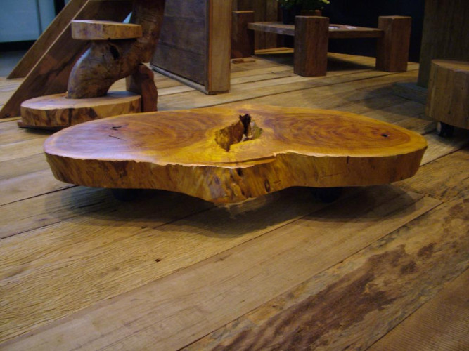 Mesa de centro de madeira de demolição – Como escolher (9) dicas de decoração fotos