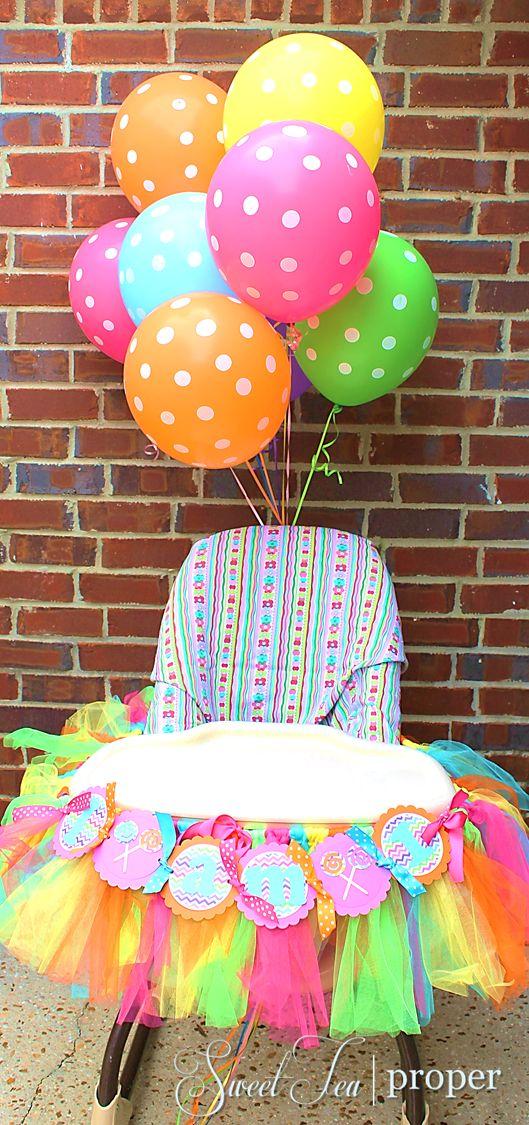 Festa de aniversário colorida
