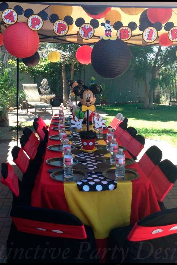 Decoracao da festa do Mickey