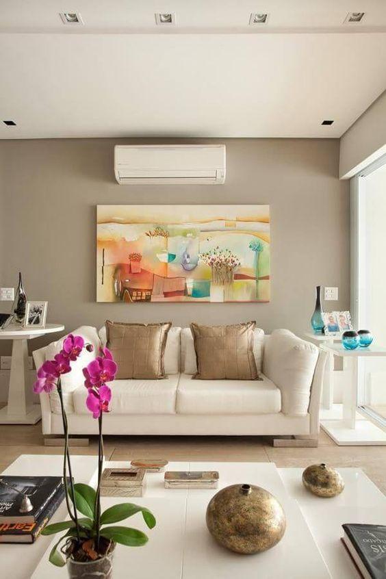 A cor Fendi na sala de estar