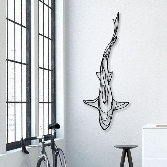 esculturas de parede ferro