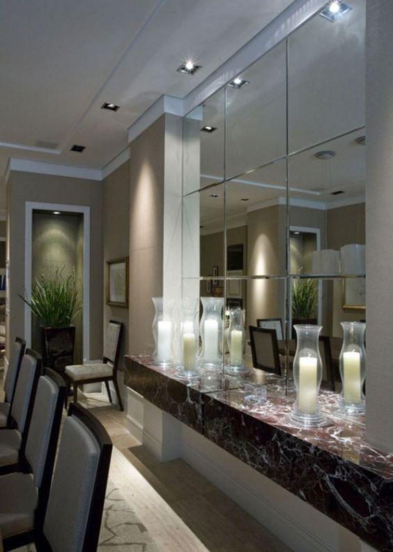 espelho bisotado sala de jantar