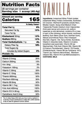 meal replacement shakes for weight loss vanilla nutrition facts