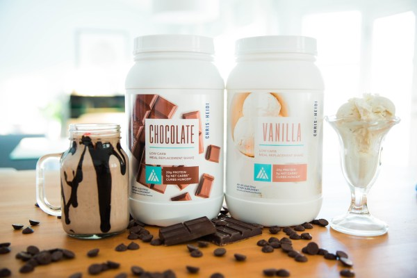 chris and heidi low carb meal replacement shake lifestyle delicious ice cream chocolate vanilla