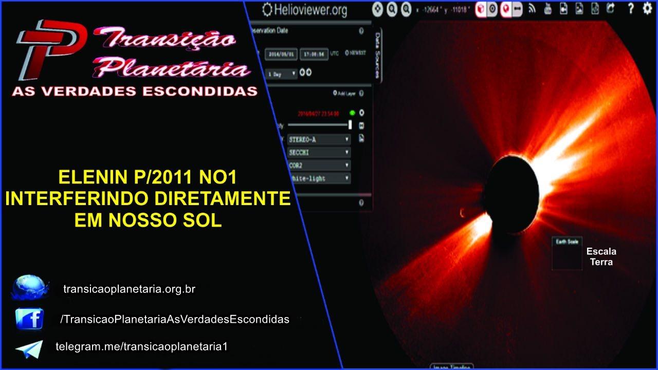 ELENIN P/2011 NO1 INTERFERINDO DIRETAMENTE EM NOSSO SOL