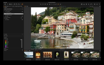 Capture One's default display layout.