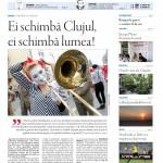 """Noul număr al săptămânalului Transilvania Reporter,   """"Ei schimbă Clujul,   ei schimbă lumea!"""" vă așteaptă la chioșcuri"""