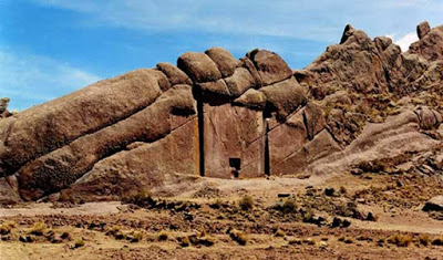 The mysterious Gate of the Gods at Hayu Marca Peru