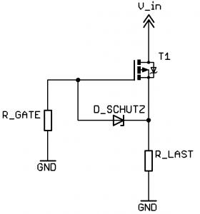 Verpolschutz mit P-MOSFET