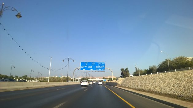 The primary highway in Muscat. This was among the first few highways in Muscat