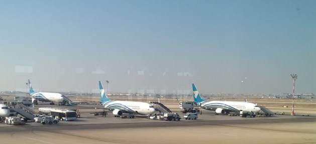 CWW Challenge - Wordless Wednesday: Oman Air planes on the tarmac