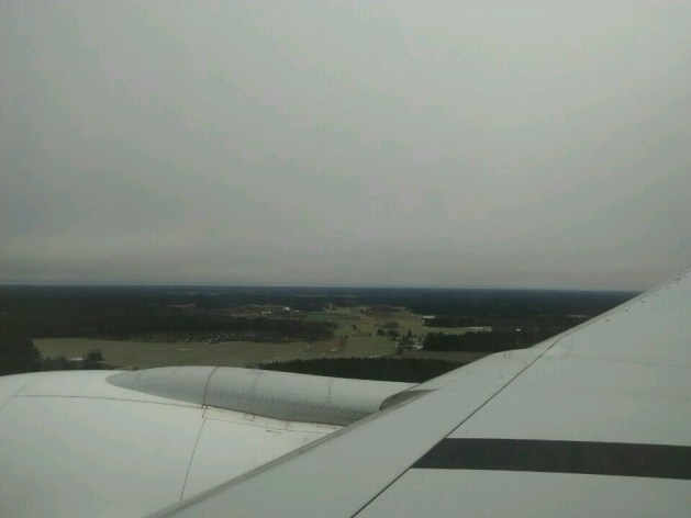 Landing at the Arlanda Airport