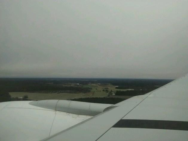 Landing at the Arlanda Airport