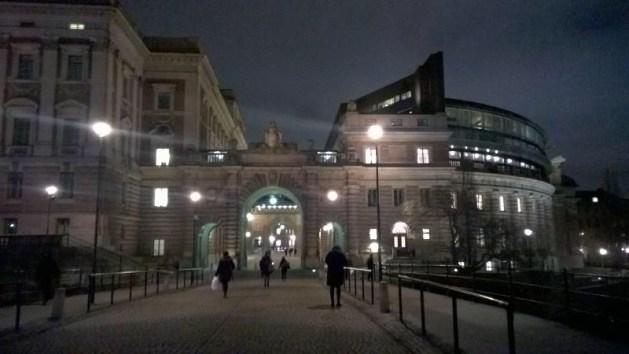 H for Helgeandsholmen in Stockholm