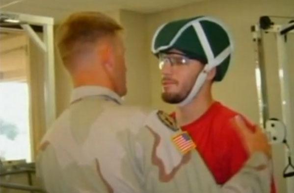 Jeff Van Antwerp visits Scotty at Walter Reed.
